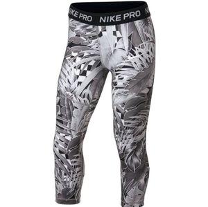 Nike Girls' Pro Allover Print Capri Tights